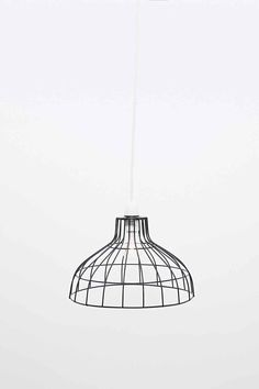 Cage Wire Parasol Lampshade in Black