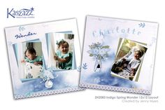 This project will show you how to create a delicate double page layout to enhance your beautiful x photos using the Indigo Dreams Collection. 4 Photos, Page Layout, Scrapbooking Ideas, Scrapbook Layouts, Indigo, Workshop, Delicate, Stamp, Create