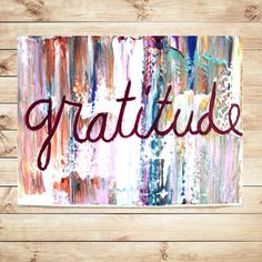 GratitudeCanvas quotes framed abstract by OrchidAndCandle on Etsy