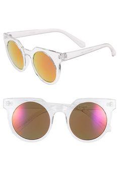 Tildon+45mm+Mirrored+Cat+Eye+Sunglasses+available+at+#Nordstrom