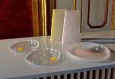 Tre studi di design innamorati della magia del vetro per altrettante nuove collezioni per la tavola