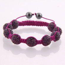 Plum Purple bead Shamballa on plum purple cord.