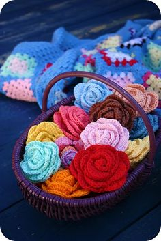 Crochet flowers, have always wanted to learn how to make these. I think 19+ hours in the car can be done