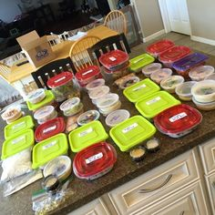 Meal prepping for the Advocare clean eating 24 day challenge