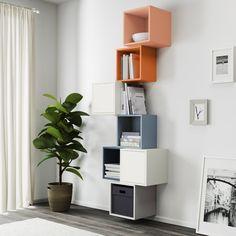 EKET kastencombinatie | IKEA IKEAnederland IKEAnl opbergen woonkamer vakken creatief samenstellen nieuw inspiratie wooninspiratie vakkenkast design kleur trendy vierkant