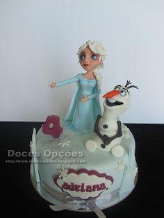 Doces Opções: A Elsa e o Olaf no aniversário da Adriana