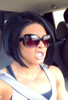 Bangs With Medium Hair, Medium Hair Styles, Short Hair Styles, Hair Color And Cut, Haircut And Color, 2015 Hairstyles, Pretty Hairstyles, Cute Hair Colors, Colored Hair Tips