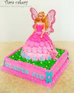 Tiara Cakery: .. Barbie cake ..  I would like to get this made for Nevaehs birthday anyone know where or who could make for me?