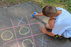 Tic, Tac, and Toc's Tic-Tac-Toe Tournament (outside with chalk or inside with paper or something more clever)