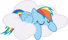 I found Rainbow sleeping on a cloud in Hubworld's Adventures in Ponyville game, and thought it was the most adorable picture of Rainbow I'd ever seen. Mlp, Fluttershy, Little Pony Cake, Hasbro My Little Pony, Print Pictures, Cute Pictures, Rainbow Dash Birthday, Crystal Ponies, Pokemon