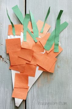 Simple Paper Plate Carrot Craft for #children  #educational #resources