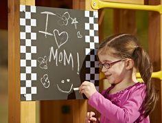 A chalkboard can add creativity to your backyard playsets   http://www.swing-n-slide.com/search/chalkboard.aspx?souce=facebook061913
