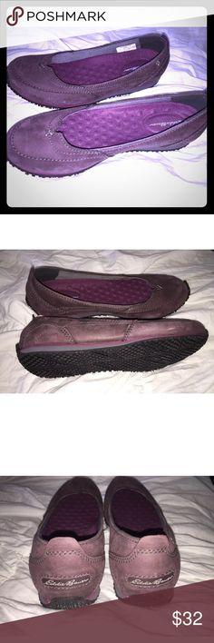 Eddie Bauer Womens Slip on sport loafers Purple NEW Eddie Bauer Women's slip on sport loafers.  Purple, Size 6 Eddie Bauer Shoes Flats & Loafers