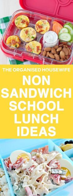 Every child is different and yours may not like the standard ham sandwich, so I have compiled some easy ideas and recipes to help spark some non-sandwich school lunch ideas. snacks, Non-sandwich School Lunch Ideas Lunch Box Recipes, Lunch Snacks, Baby Food Recipes, Healthy Recipes, School Lunch Recipes, Box Lunches, Lunch Box Meals, Easy Recipes For Kids, Snacks Kids