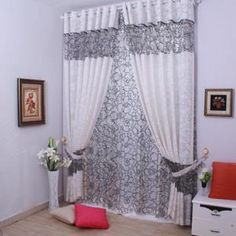 $11.84 Curtains living room bedroom curtains upscale the modern minimalist window screening hollow jacquard customized European and American style