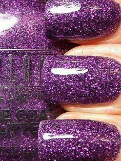 Purple/Grape sparkle nail polish
