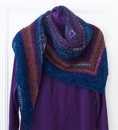 Ravelry: Noro Woven Stitch Shawl pattern by Z apasi Shawl Patterns, Knitting Patterns, Knit Or Crochet, Knitted Shawls, Ravelry, Free Pattern, Stitch, Retro, Clothes