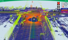 """Google's Self-Driving Car gathers almost 1 GB per SECOND. Here's what it """"sees"""" making a left turn."""