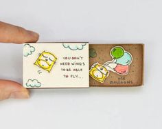 Encouragement Card/ Inspiring Card/ Duck Matchbox / Gift box / Message box Today is the perfect day to be happy/ Ermutigung-Karte / inspirierende Karte / Ente Matchbox / Funny Gifts For Friends, Christmas Gifts For Friends, Cards For Friends, Goodbye Gifts, Goodbye Message, Funny Encouragement, Matchbox Crafts, Fathers Day Crafts, Inexpensive Christmas Gifts