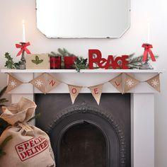 Hollyparty.com | Achetez en ligne Guirlande de Noël en toile de jute Vintage pour Décoration Noël ... En savoir plus sur GUIRLANDE NOËL | Paiement Sécurisé et Livraison Rapide !