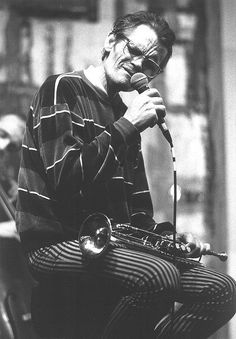 "last picture of chet baker, jazzcafé ""thelonious"", rotterdam, may 7 1988 ~ photo: hajo piebenga"