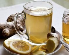 Anti-Inflammatory Ginger Root Tea: Drink this tea to ease gut inflammation and boost your liver health. Pour 1 C Boiling Water over: inch slice Ginger Root 1 Juiced Lemon Wedge 3 Mint Leaves 1 serving-Enjoy! Healthy Drinks, Healthy Eating, Healthy Recipes, Healthy Protein, High Protein, Healthy Habits, Healthy Food, Ginger Root Tea, Ginger Beer