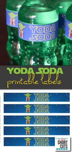Yoda Soda Printable Labels