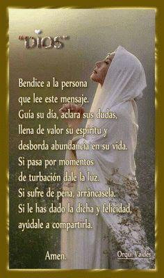 Cristo te AMA: U God, God Bless You, Thank You Lord, Spanish Prayers, Beautiful Prayers, Religious Quotes, Spiritual Quotes, Heart Of Jesus, Christian Devotions