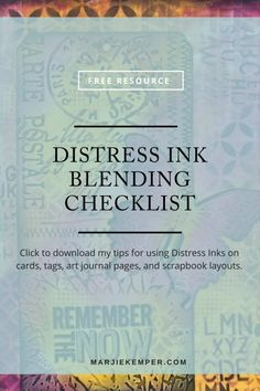 Click here for my free Distress Ink Blending Checklist