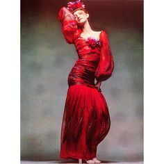 1971 - Loulou de la Falaise in Yves Saint Laurent dress by barry Lategan for Vogue magazine