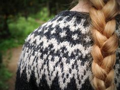 Not sure what I like more, the braid or the Icelandic lopi sweater!