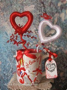 ДЕРЕВО ЛЮБВИ.Авторская работа. Teacup, Valentine Day Gifts, Activities, Rose, Cards, Beautiful, Wedding Table, Boyfriends, Embellishments