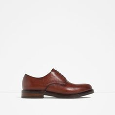ZARA - MAN - BROWN LEATHER BLUCHERS