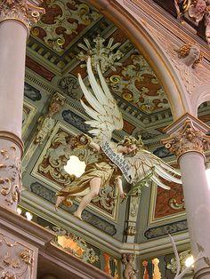 Bad Doberan - Cloister Church, monumental angel statue