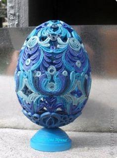 Поделка изделие Квиллинг Яйца которые уехали в Сибирь Бумага Бумажные полосы фото 9