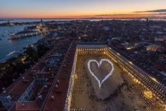 White Heart in Venice - Piazza San Marco Lights Up