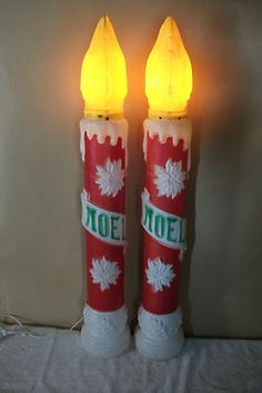 Vintage christmas 38 empire blowmold noel candle yard decor lighted vintage christmas 38 empire blowmold noel candle yard decor lighted lot of 3 aloadofball Images