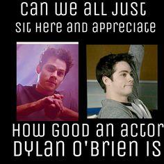 Dylan O'Brien : Void Stiles vs normal stiles smirk