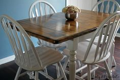 Painted and Stained Kitchen Table