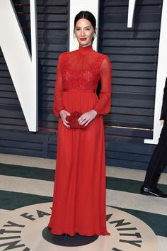 See What Everyone Wore to the 2017 Oscars After-Parties - Fashionista - Olivia Munn in Giambattista Valli