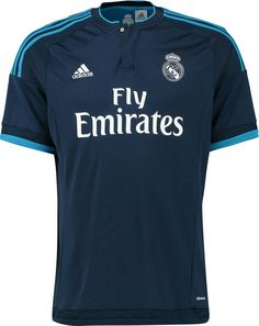 The Adidas Real Madrid Third Shirt features a classic design with two tones  of blue bddaff5e1