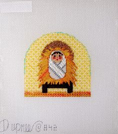 Diane's Taking Time Out To Needlepoint, baby jesus nativity figure