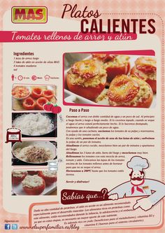 #InfoReceta #Tomates al horno rellenos. #Infografias #Recetas #Recipes #Infographic