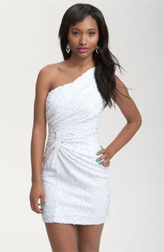 As U Wish One Shoulder Sequin Knot Dress from Nordstrom.