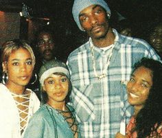 "90shiphopraprnb: ""TLC and Snoop Dogg (1994) """