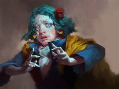 What's Mine Is Now Yours is part of Whats Mine Is Yours Runescape Wiki Runescape Fandom Com - Roma Kupriyanov is a freelance artist from Russian L'art Du Portrait, Portraits, Art Sketches, Art Drawings, Arte Grunge, Drawn Art, Wow Art, Illustration Tumblr, Pretty Art