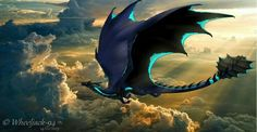 Blue wings black dragon of the dark nights Mythical Creatures Art, Mythological Creatures, Magical Creatures, Fantasy Creatures, Beautiful Creatures, Desenhos Love, Cool Dragons, Dragon Artwork, Dragon Pictures