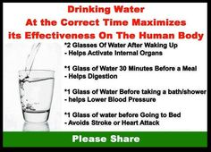 Know when to drink your water.
