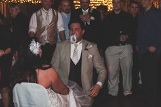 Got the garter with his teeth