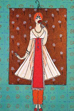 Art Deco Fashion Illustrations Vintage Posters Prints #flowershop